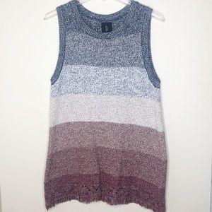 B Collection by Bobeau Sleeveless Sweater Tunic
